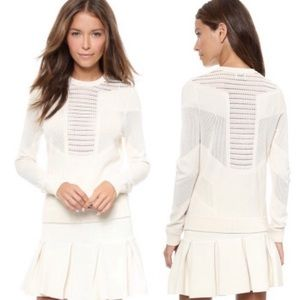 Torn by Ronny kobo white faige pointelle pullover